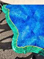 Valerian Rybar, Consolle Rocaille In Legno Dorato, XX Secolo-8