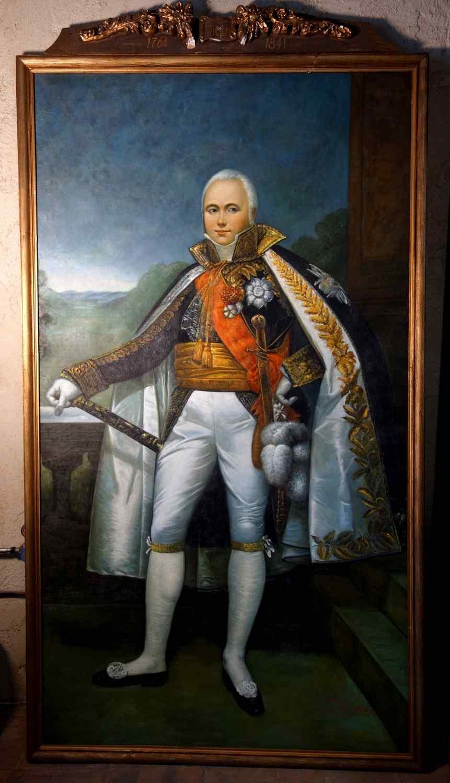 Grande ritratto a figura intera del Maresciallo dell'Impero