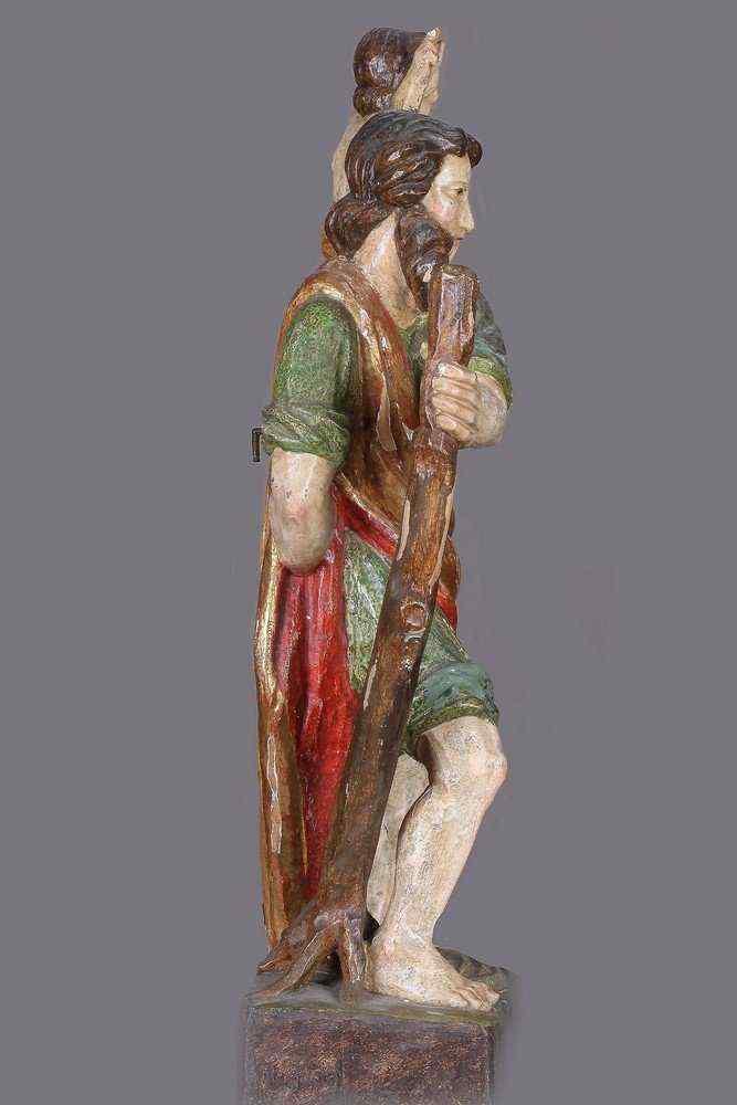Statua in legno raffigurante San Giovanni col Bambino