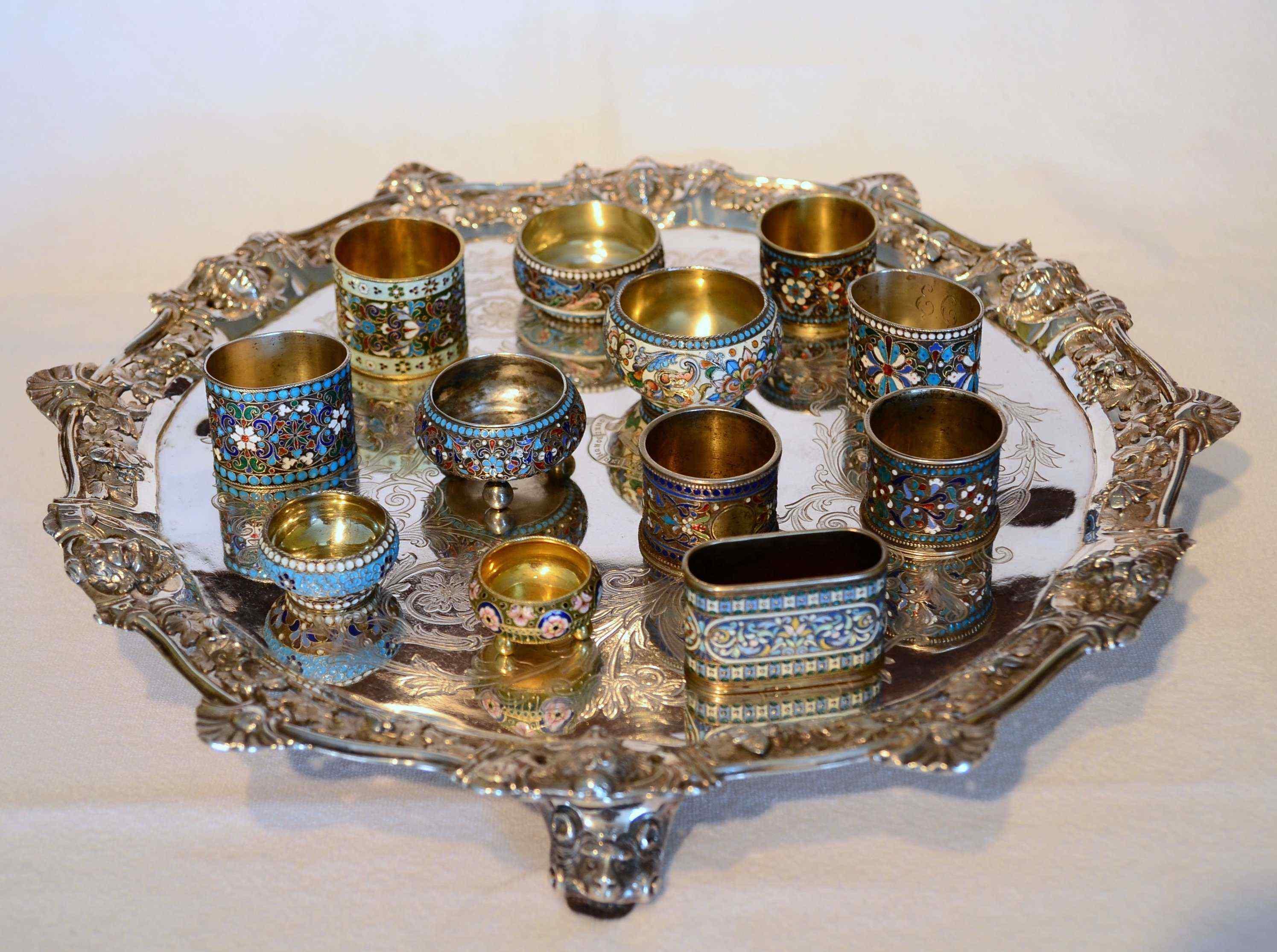 Preziosa collezione di smalti russi in argento, Russia