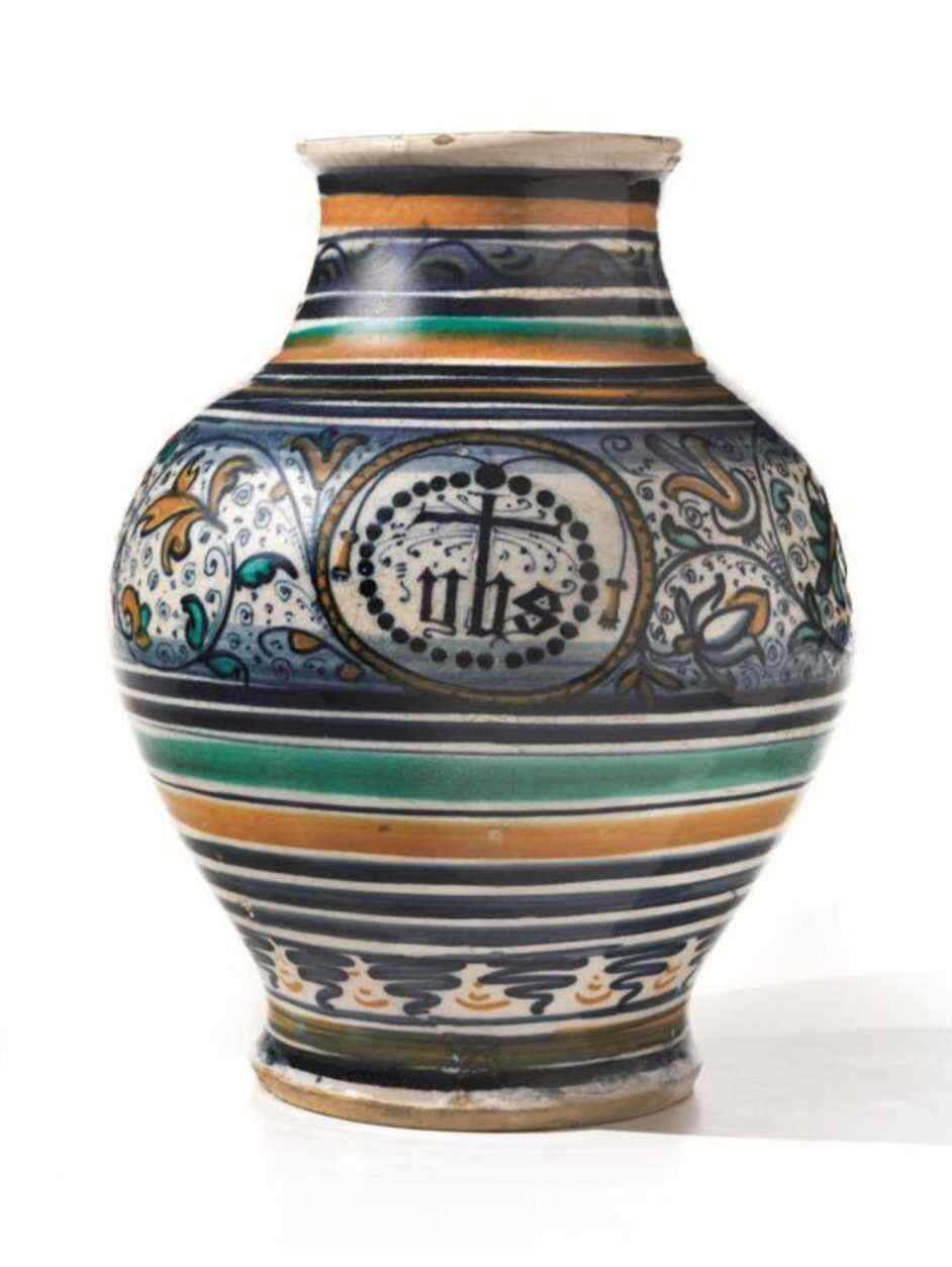 VASO OVOIDALE Faenza, 1490-1510 circa