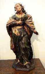 Sculpture polychrome en bois 'Saint-Jean, l'apôtre'-4