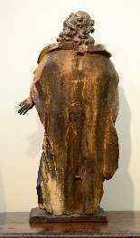 Sculpture polychrome en bois 'Saint-Jean, l'apôtre'-3