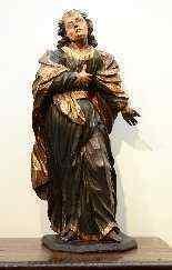 Sculpture polychrome en bois 'Saint-Jean, l'apôtre'-7
