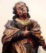 Sculpture polychrome en bois 'Saint-Jean, l'apôtre'-5