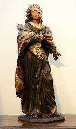 Sculpture polychrome en bois 'Saint-Jean, l'apôtre'-8