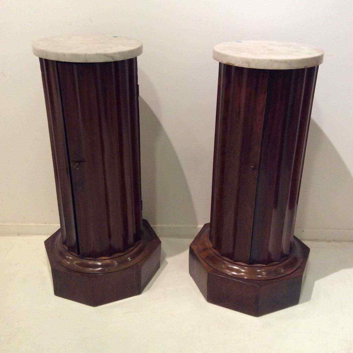 Beautiful pair of columns in walnut veneered