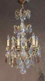 lampadario di cristallo e bronzo-6