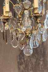 lampadario di cristallo e bronzo-3