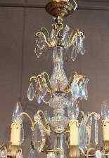 lampadario di cristallo e bronzo-1
