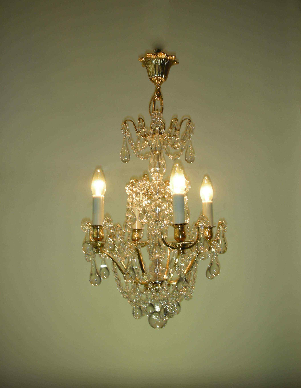 Lampadario antico, stile Luigi XVI
