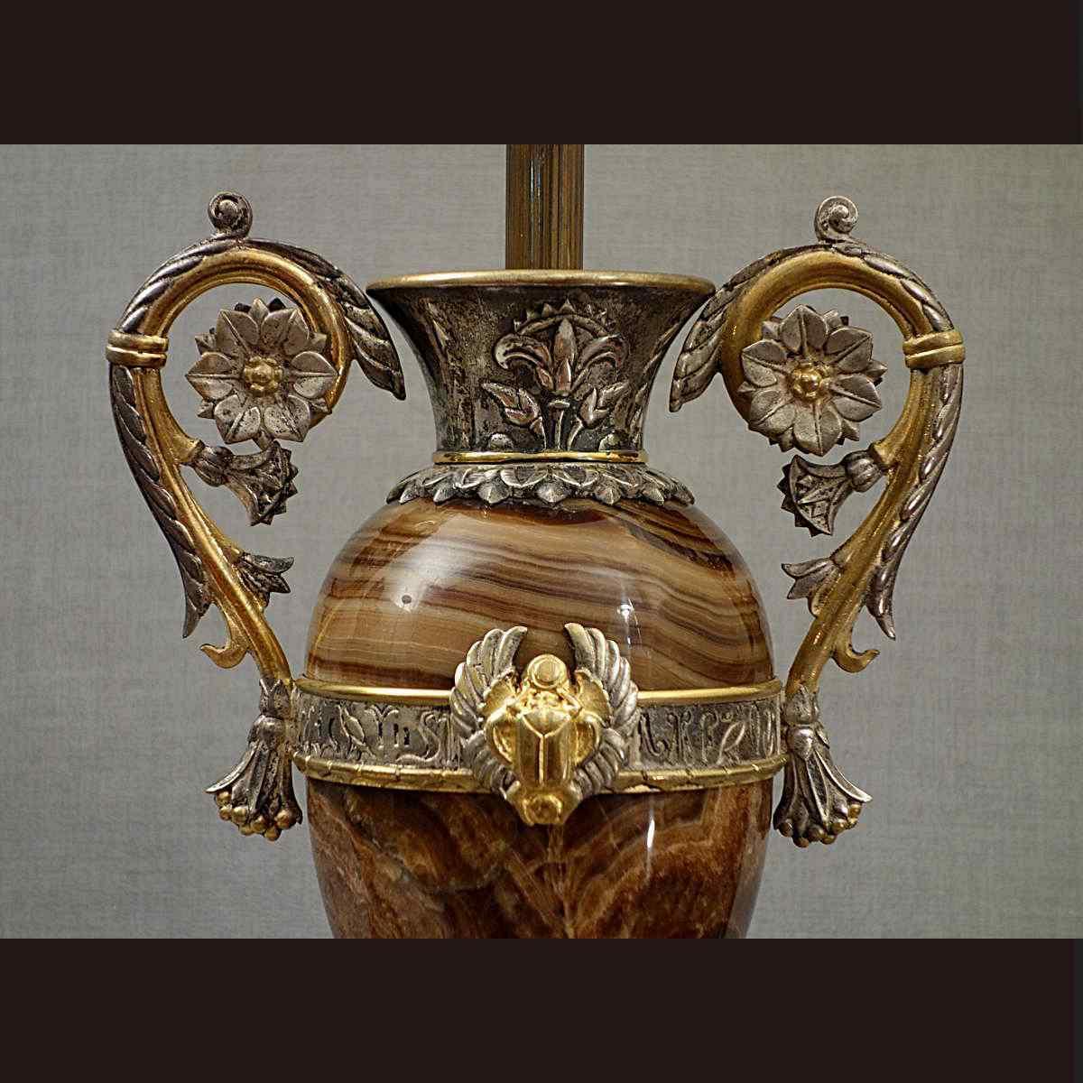 Paio di Vasi XIX secolo Stile Egiziano