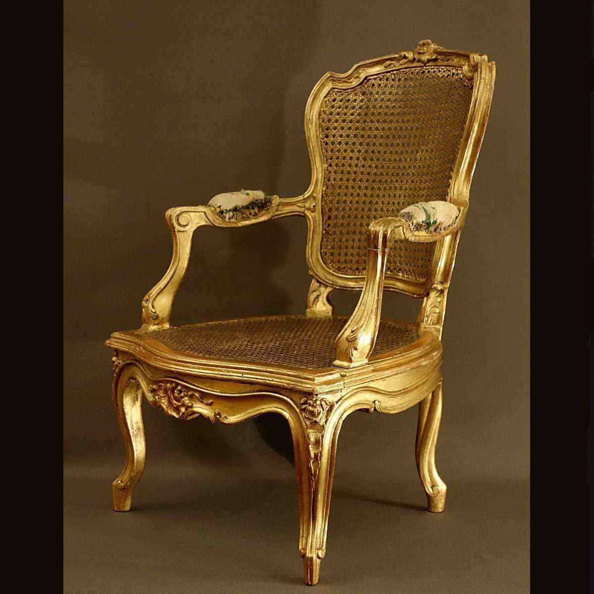 Rare Children's Armchair Louis XV Style