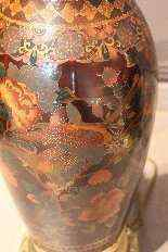 Pair of oil lamps compartmentalized nineteenth century-5