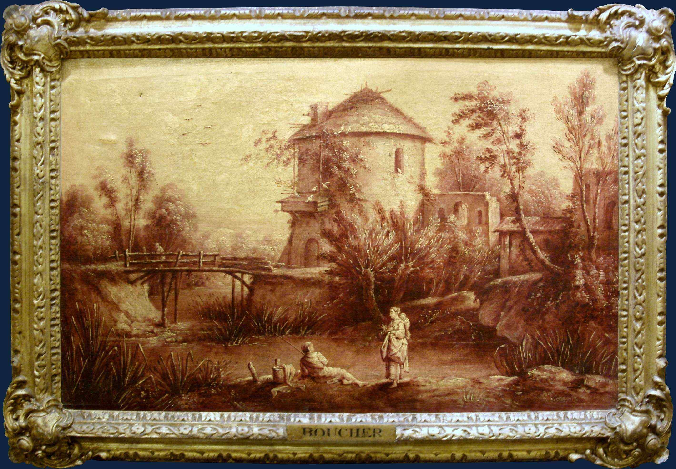 Suiveur de François Boucher, Pêcheur avec maman et enfant
