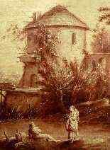Seguace di Francois Boucher, Pescatore con mamma e bambino-0