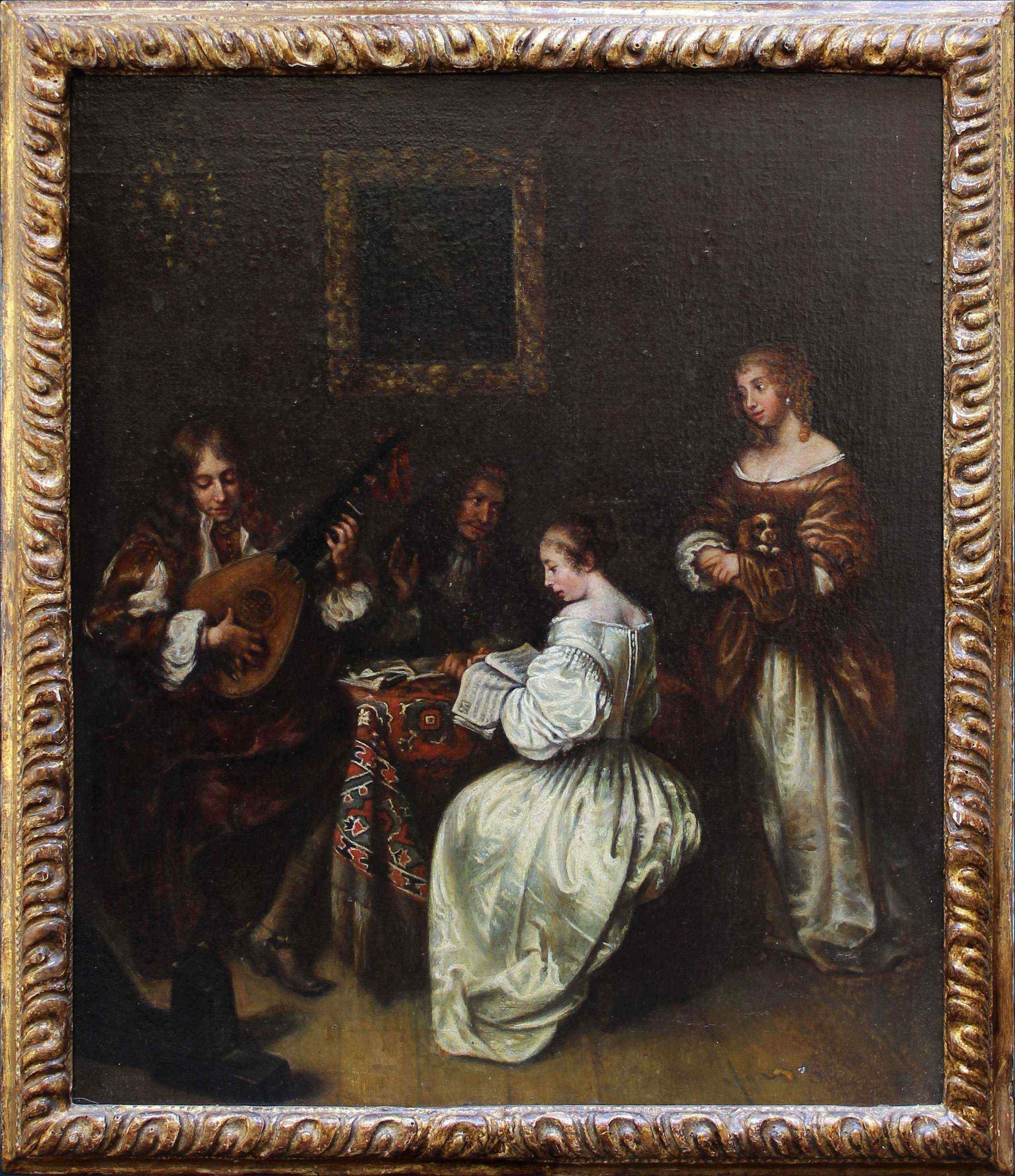 XVII secolo, Scuola fiamminga, Scena di concerto
