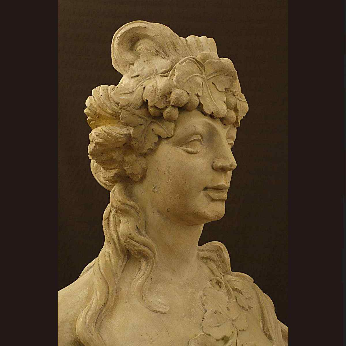 Importante Busto di gesso XIX Secolo Stile Louis XIV