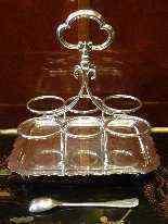 Oliera in metallo argentato, epoca Regina Vittoria-5