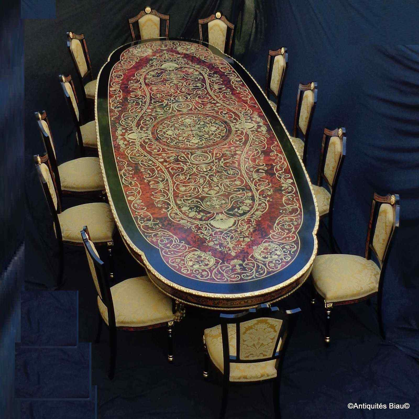 Tavolo e sedie Boulle