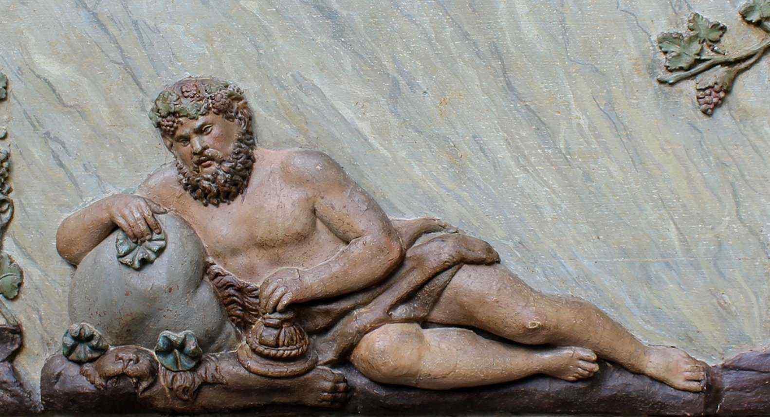 XVIII secolo, Pannello bassorilievo in legno, BACCANALE