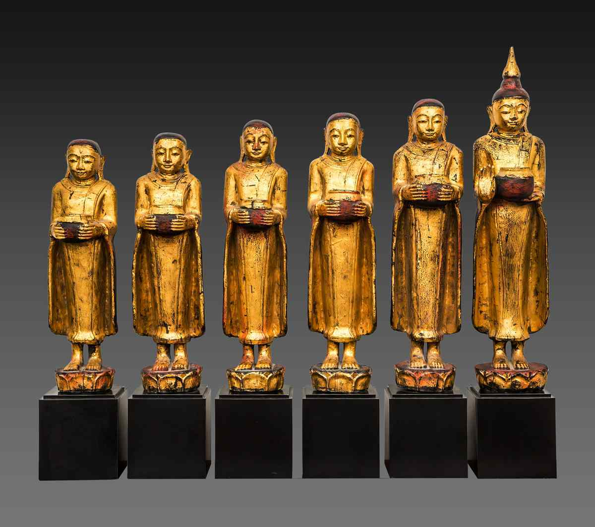 Set di sculture del Buddha e i suoi discepoli, Birmania