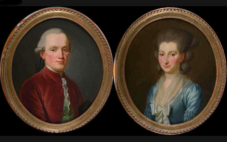 Paire de portraits - Ecole française fin XVIIIe