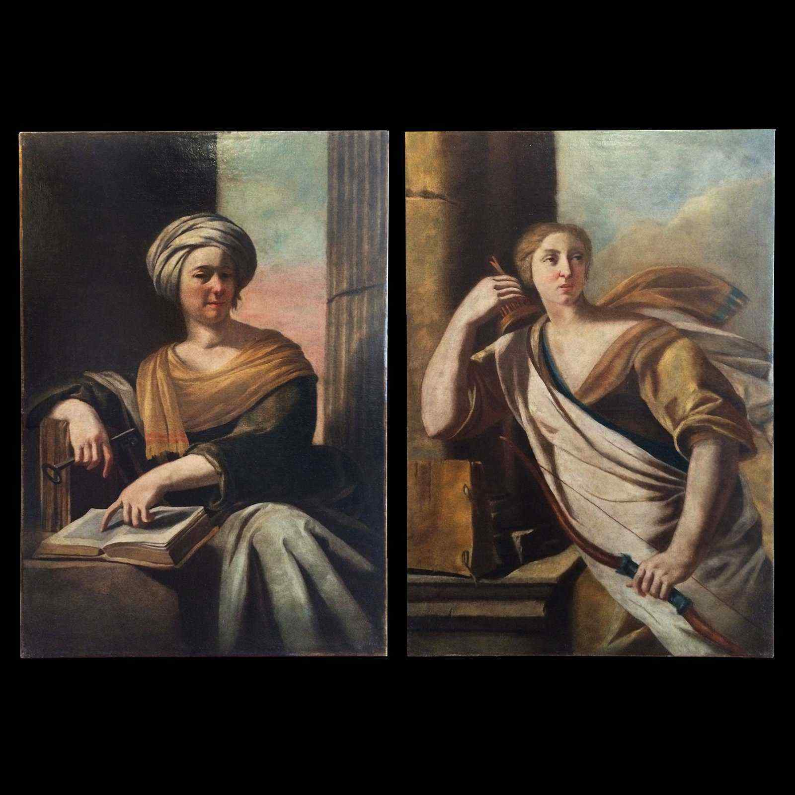Пара аллегорических портретов XVII века Франция