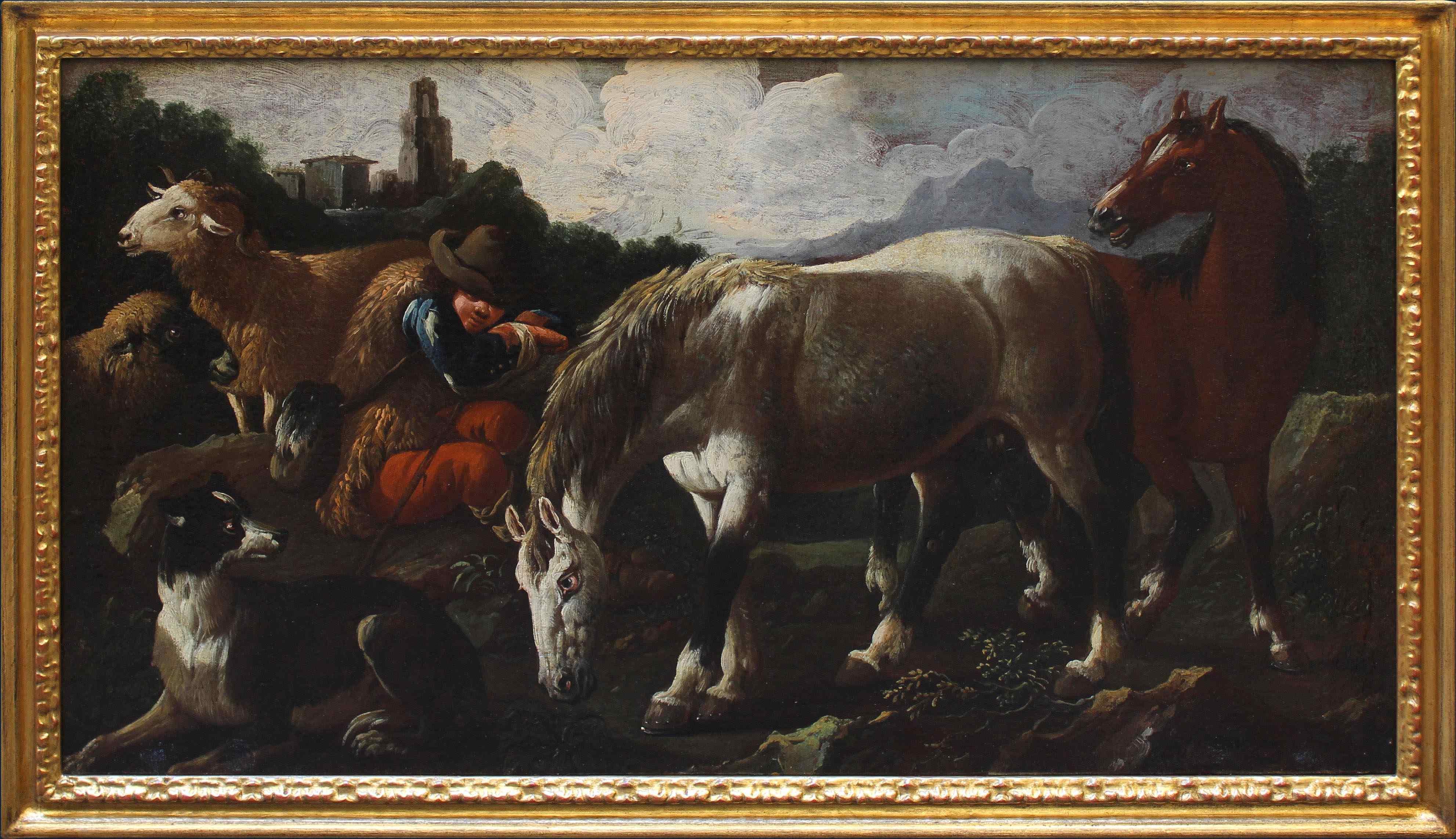 Cajetan Roos (1690 - 1770), Pastore con animali