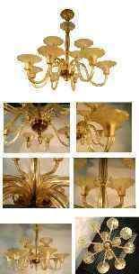 Lampadario Art Decò, 12 luci-1