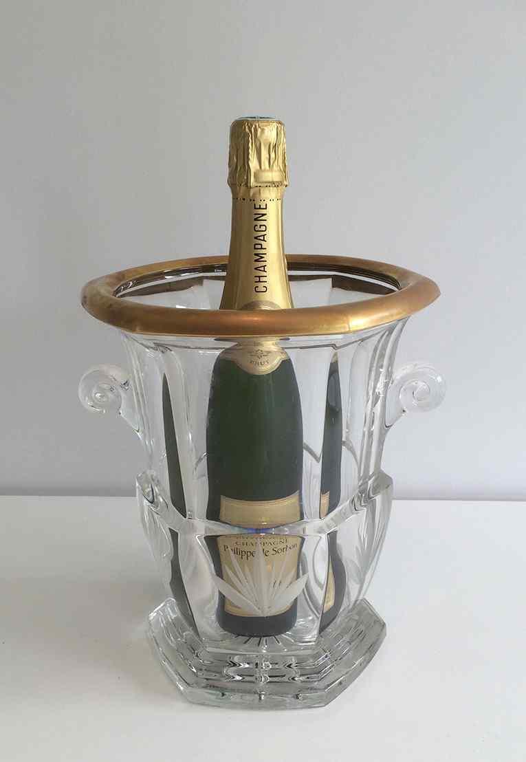 Cristallo champagne secchio. circa 1940