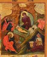 Icona raffigurante quattro episodi del calendario liturgico-0