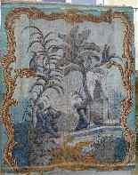 Grande murale tela dipinta, arredamento cinese-7