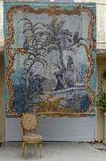 Grande murale tela dipinta, arredamento cinese-5