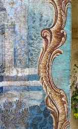 Grande murale tela dipinta, arredamento cinese-6