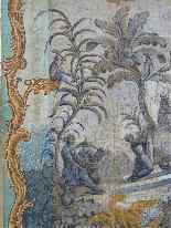 Grande murale tela dipinta, arredamento cinese-8