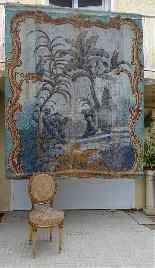 Grande murale tela dipinta, arredamento cinese-26