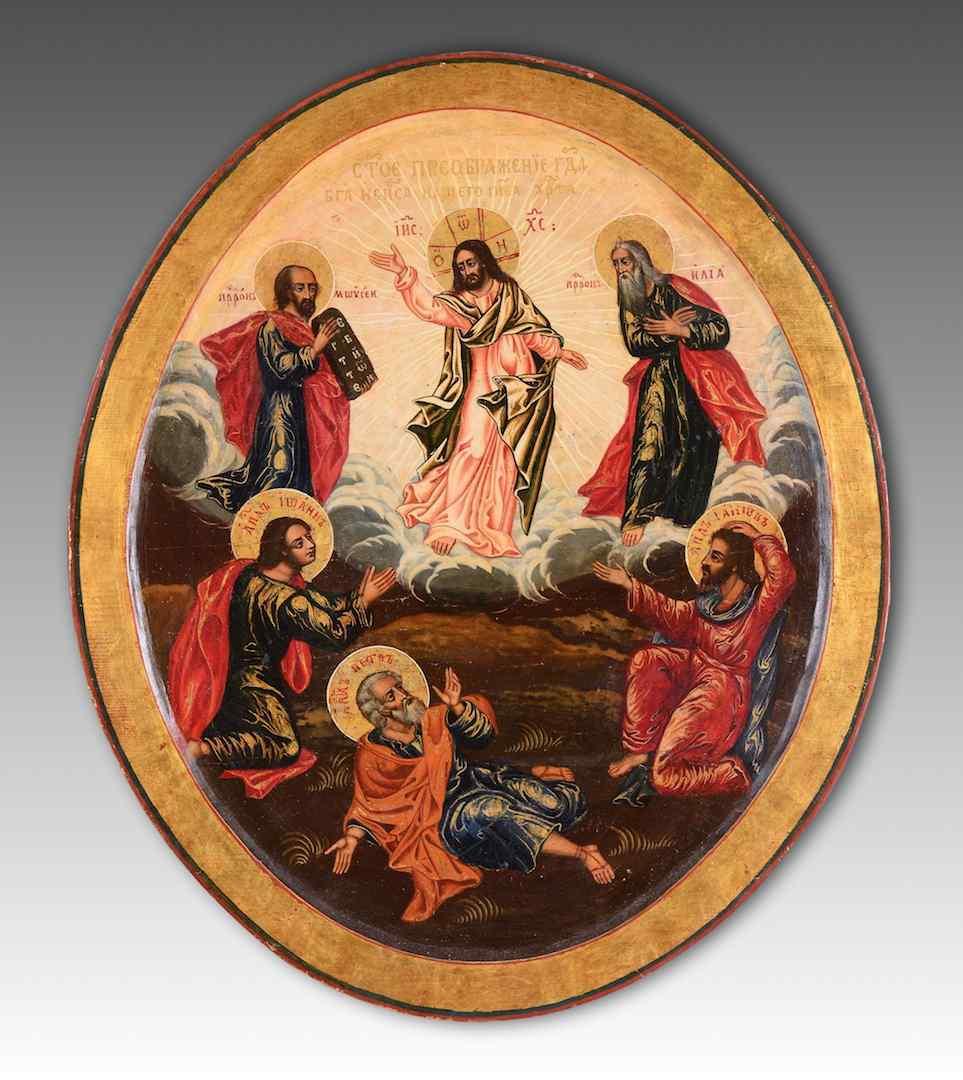 La Trasfigurazione di Cristo, scuola russa (Mosca)