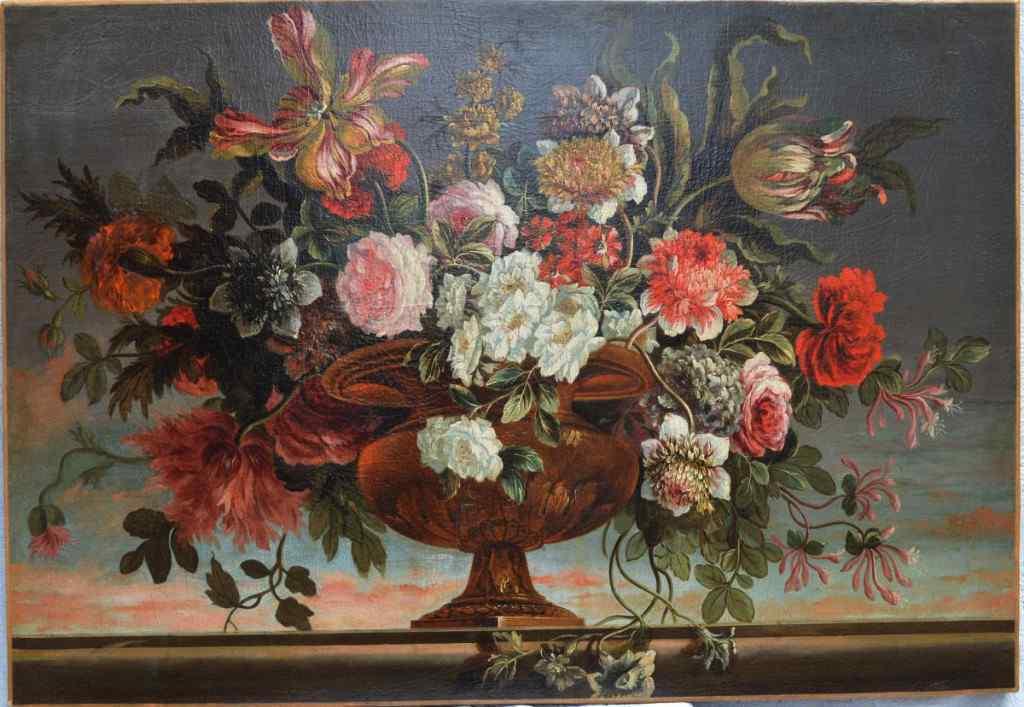Seguace di Antoine Monnoyer, Vasque fiori.
