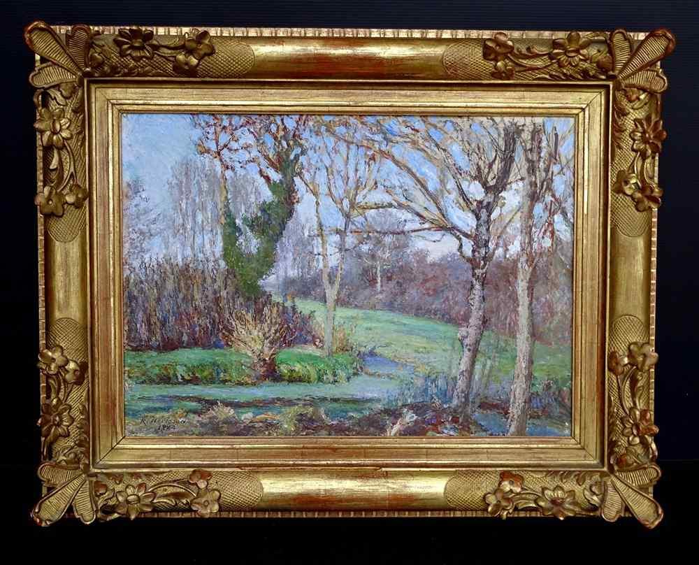 René HERISSON 1857-1940 Bords De Charente Huile 1924 Post-im