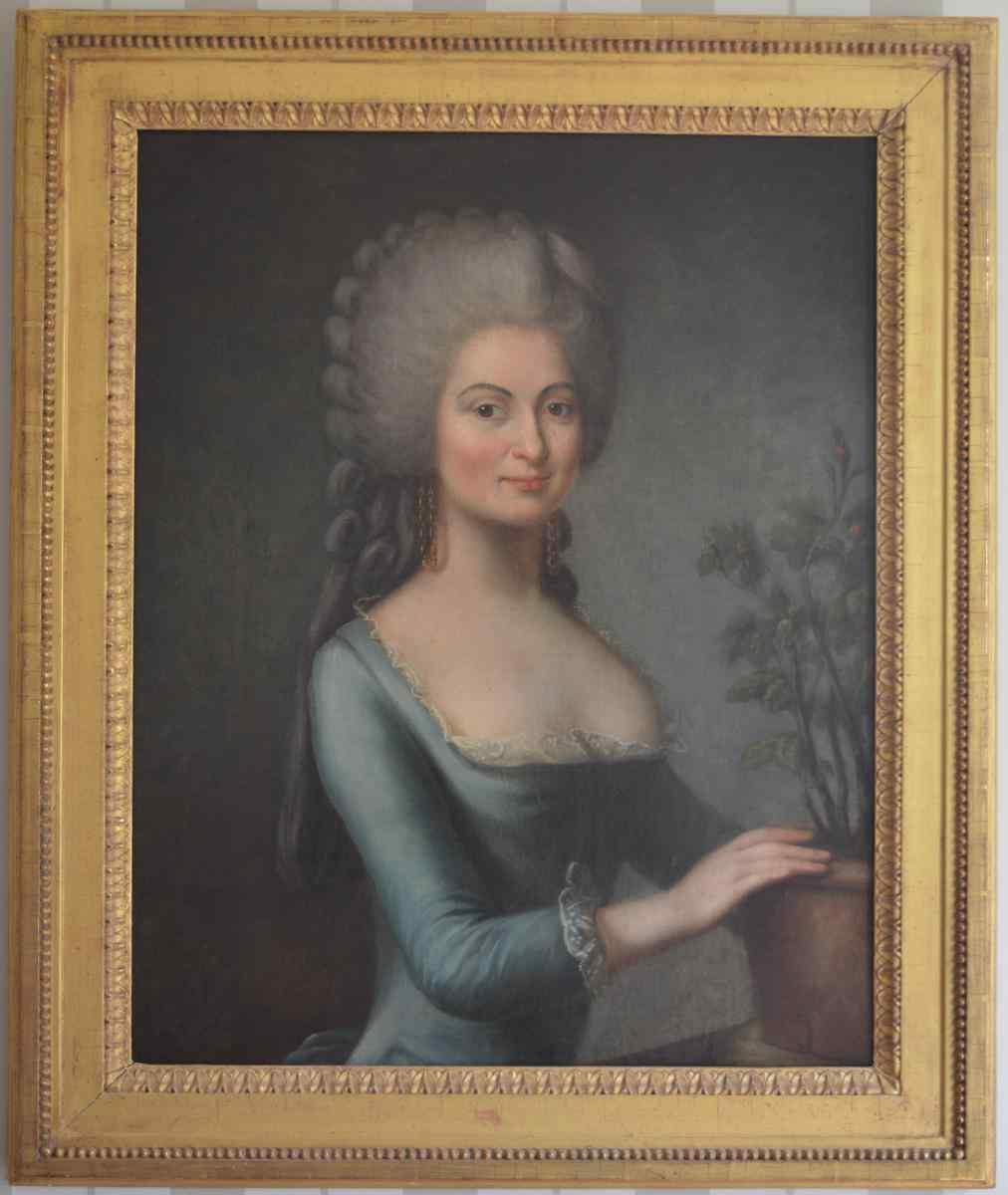 Francese XVIII Scuola Fine. Quality Of Lady ritratto.