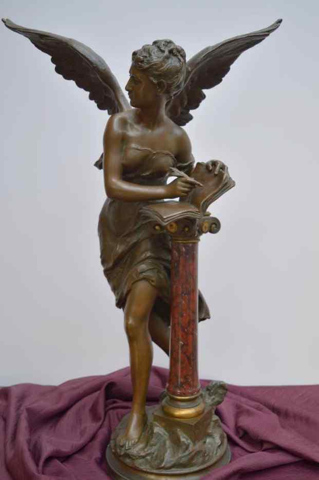 Mathurin Moreau, The Golden Book, Bronze. XIXème.