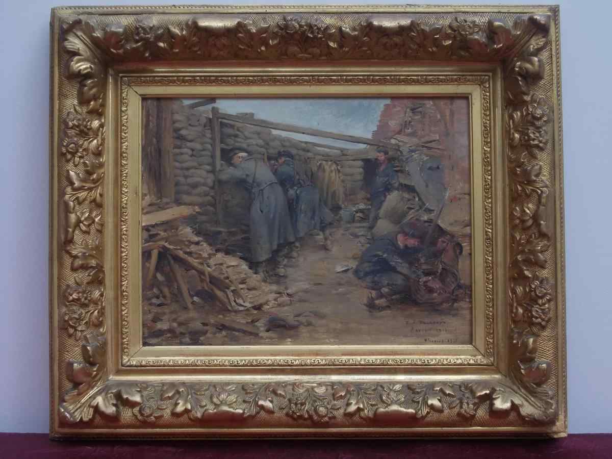 Ernest Delahaye-Jean (1855-1921). I soldati in una trincea 1