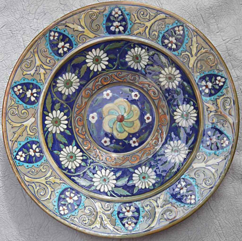 Théodore Палуба тарелка, декор Iznik.