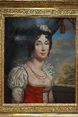 Début XIX ème. Suiveur Du Baron Gérard. Portrait De La Reine-5