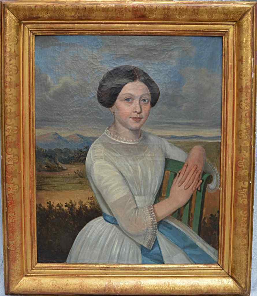 English School XIX, Ritratto di giovane donna.