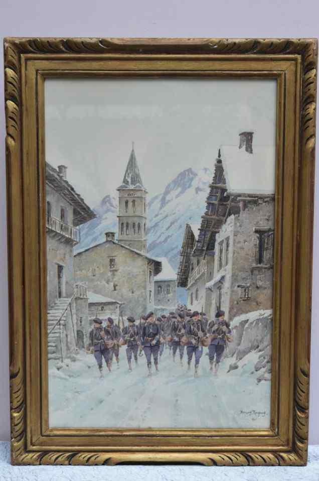 Antico acquerello di Bernard Rambaud