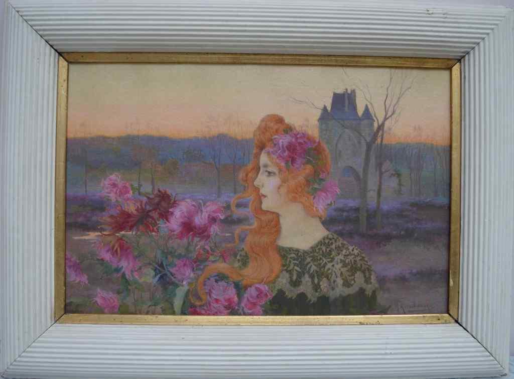 Michel Korochansky (1866-1925). Jeune Femme En Fleurs.