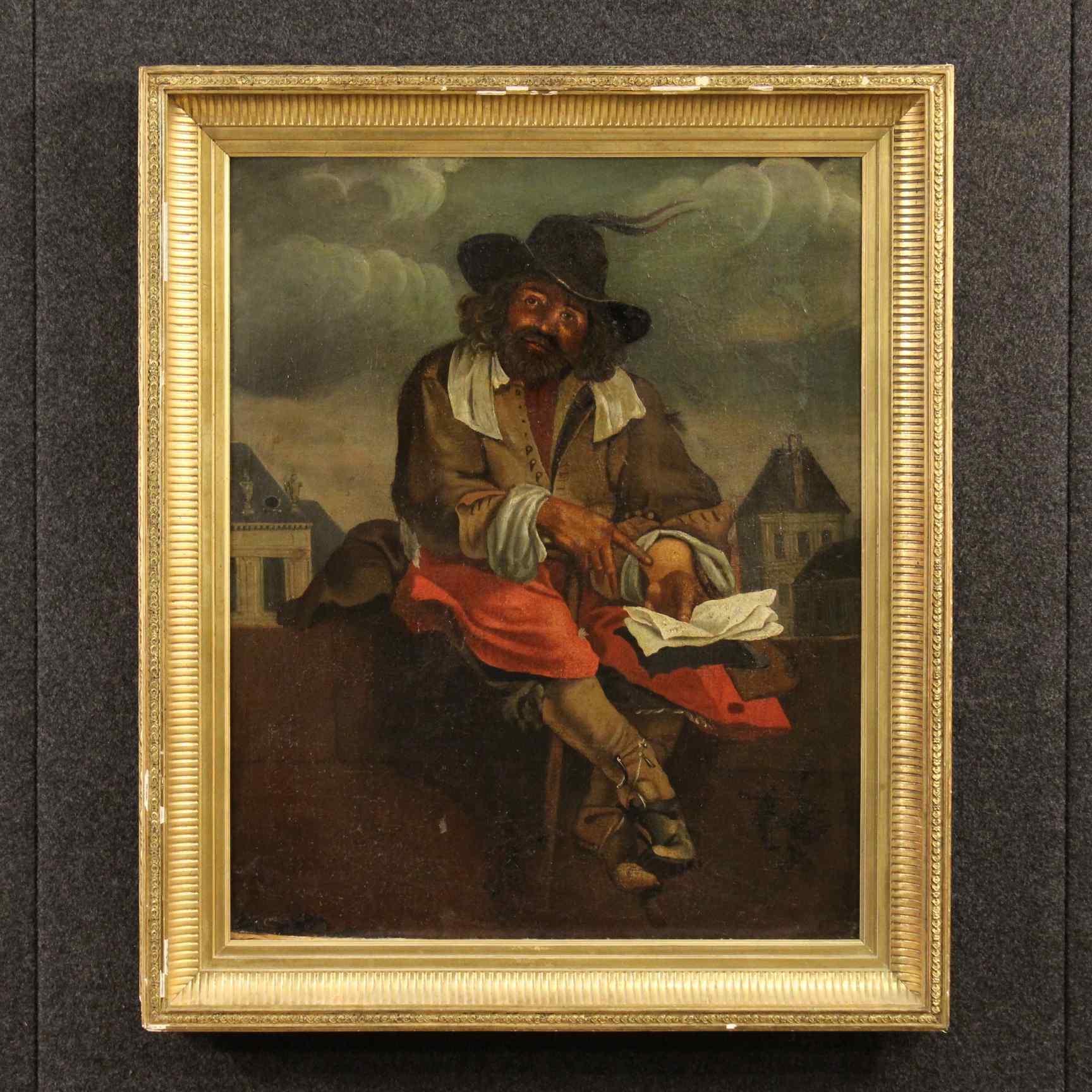 Antico dipinto francese dei primi del XIX secolo