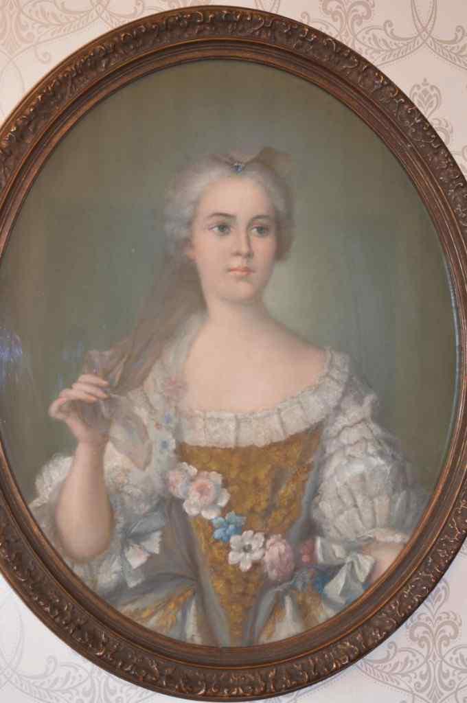 Овальный портрет, бюст мадам Софии. Девятнадцатого века